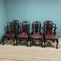 Set of 8 Edwardian Antique Walnut Dining Chairs (4 of 13)
