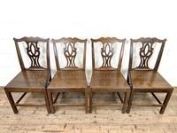 Set of Four Country Oak Dining Chairs (4 of 10)