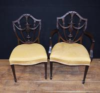 Set 10 Adams Shield Back Dining Chairs Mahogany (7 of 9)