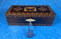 William IV Rosewood Glove Box with Superb Stickware & Tunbridge Ware Inlay (6 of 12)