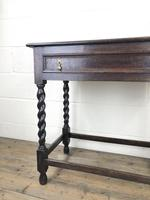 Antique Oak Side Table with Drawer (5 of 10)