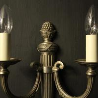 French Set of 4 Silver Gilded Antique Wall Lights (3 of 10)