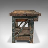 Large Antique Silversmith's Bench, English, Pine, Craftsman's Table, Victorian (4 of 10)