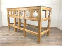 Victorian Pine Church Altar Table in Gothic Design (4 of 14)