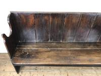 Rustic Antique Country Oak Settle Bench (6 of 14)