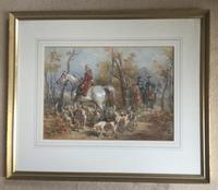 Frederick Tayler Watercolour  'The Hunting Party' (3 of 3)