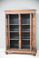 Anglo Indian Carved Rosewood Glazed Cabinet (12 of 14)