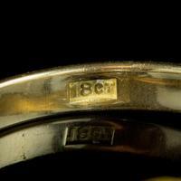 Antique Edwardian Sapphire Diamond Trilogy Twist Ring 18ct Gold Circa 1905 (2 of 8)