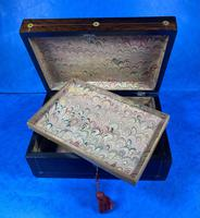 William IV Rosewood Jewellery Box With Mother Of Pearl Inlay (7 of 17)