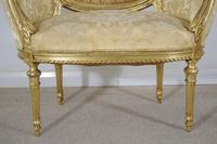 Pair of 19th Century French Gilt Louis XVI Style Armchairs (17 of 19)