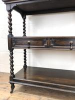 Antique Oak Three Tier Sideboard (5 of 12)