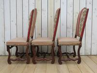 Set of Six French Oak Dining Chairs (6 of 9)