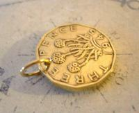 Vintage Pocket Watch Chain Fob 1945 WW2 King George V1 Threpenny Bit Coin Fob (3 of 6)