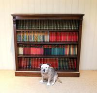 Late 19th Century Open Mahogany Bookcase (5 of 10)