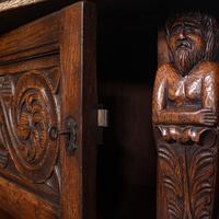 Antique Court Cabinet, English, Oak, Sideboard, Credenza, Jacobean Revival, 1890 (9 of 12)