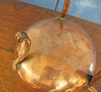 Antique Copper Posnet. Brandy Warmer Saucepan (8 of 10)