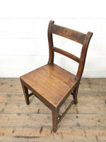 Selection of Six 19th Century Welsh Oak Farmhouse Kitchen Chairs (8 of 10)