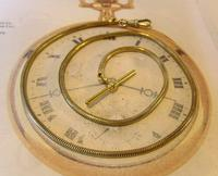 Antique Pocket Watch Chain 1930s Very Long Brass Snake Link Albert With T Bar (3 of 12)