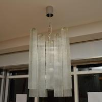 Pair of Large Vintage 1960's Glass Chandeliers by Doria Leuchten (2 of 11)