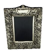 "Antique Edwardian Sterling Silver 9 1/2"" Photo Frame 1902 (4 of 11)"