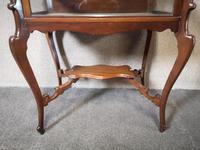 Edwardian Mahogany Bijouterie Table / Display Table (3 of 10)