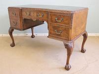 Quality Burr Walnut Kneehole Writing Desk (5 of 15)