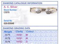 2.17ct Diamond & 18ct Yellow Gold Earrings - Vintage c.1950 (8 of 9)