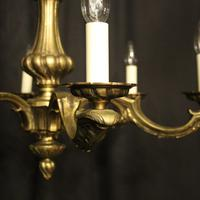 French Bronze 6 Light Antique Chandelier (5 of 10)