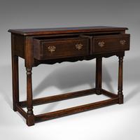 Antique Dresser Base, English, Oak, Side, Hall, Table, Late Georgian c.1800 (2 of 10)