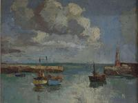 Claude Kitto - Oil on Canvas - A Devon Harbour (3 of 3)