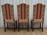 Set of Six French Oak Dining Chairs (3 of 9)