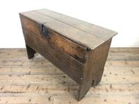 Early 18th Century Six Plank Oak Coffer