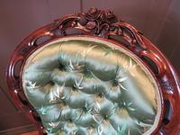 Carved Walnut Ladies Chair New Upholstery (6 of 7)
