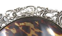 Antique Victorian Sterling Silver & Tortoiseshell Tray / Dish 1888 (2 of 9)