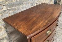Large Regency Mahogany Bow Front Chest of Drawers (17 of 19)