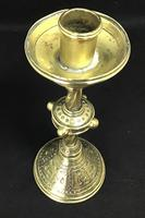 Gothic Revival Church / Altar Solid Brass Candlestick (4 of 5)