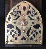 Victorian Coromandel & Brass Bookslide (2 of 5)