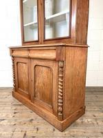 Antique Victorian Mahogany Glazed Bookcase (7 of 9)