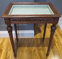 Superb Hand Carved Solid Mahogany Bijouterie Vitrine (3 of 9)