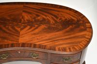 Antique Queen Anne Style Mahogany Kidney Desk / Dressing Table (4 of 11)