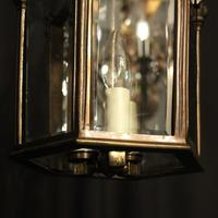 French Bronze Triple Light Antique Hall Lantern (10 of 10)