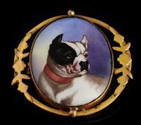 Victorian Enamel Bulldog Brooch (4 of 11)