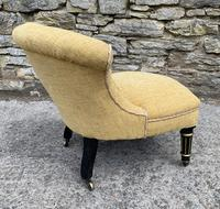 Small Antique Victorian Upholstered Salon Chair (9 of 17)