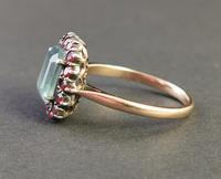 Antique Victorian Aquamarine & Garnet Ring, 9ct Gold (4 of 10)