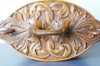 Scandinavian / Norwegian 'Folk Art' Baroque / Acanthus Carved Tine Box c.1910 (16 of 39)