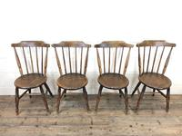 Set of Four Victorian Elm Penny Chairs (3 of 11)