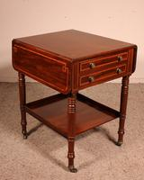 Pembroke Table In Mahogany & Inlay 19th Century - England (4 of 16)