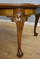 Antique Figured Walnut Extending Dining Table (6 of 11)