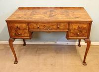 Quality Burr Walnut Side Table Writing Desk (13 of 14)