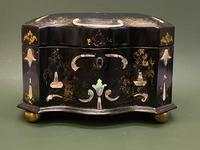 Good Quality 19th Century Papier Mache Tea Caddy (2 of 6)